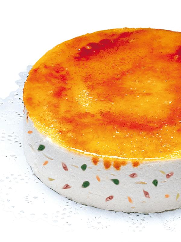 Pastís Tutti-frutti amb rovell cremat