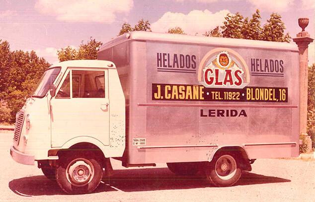 primer camió gelats glas
